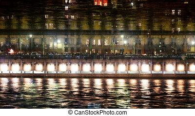 lights at festival in lyon, france