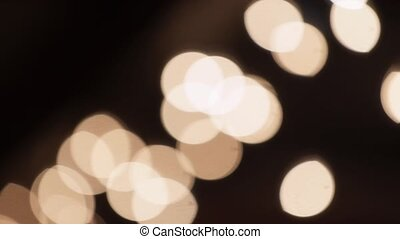 Lights blur bokeh on black background