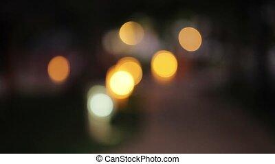 Lights blur bokeh at night