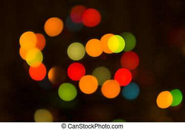 lights blurred bokeh background