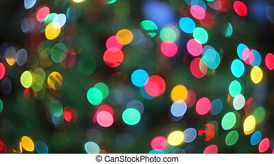 Lights blurred bokeh background from christmas night
