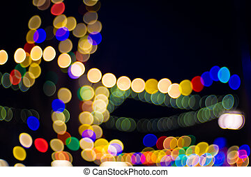 Lights blurred for background. Night party for your design concept