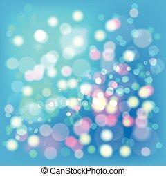 Lights Boke Blur Background. Illustration Vector EPS10.