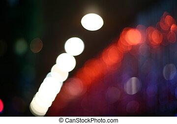 lights., brouillé