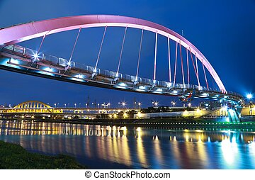 Lights by the bridge