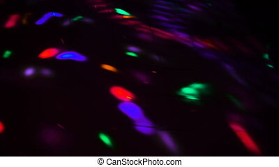 Lights effects at the party