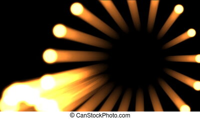 Lights flowing