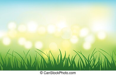 lights grass background vector design leayout