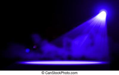 lights., illustration., buehne