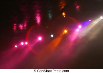 Lights in disco club