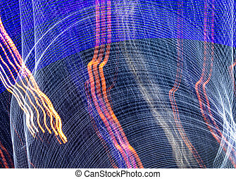 Lights in motion at night as an abstract background