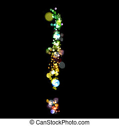 Lights in the shape of an exclamation mark