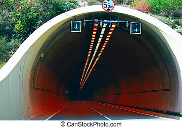 Lights in tunnel
