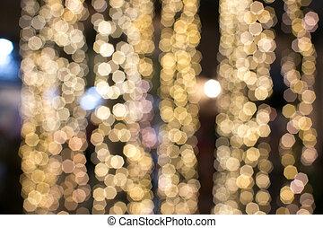 lights., natale, sfocato