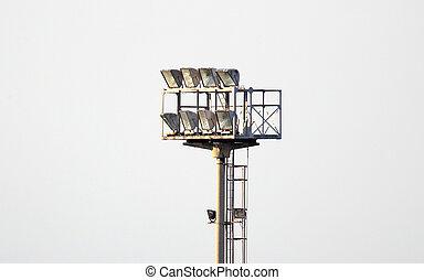 Lights of a football stadium