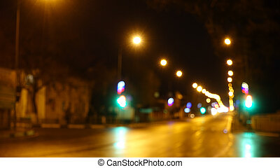 Lights of night city road.