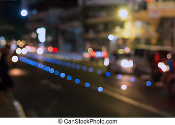 Lights of the night city