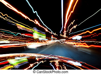 Lights of traffic in-car