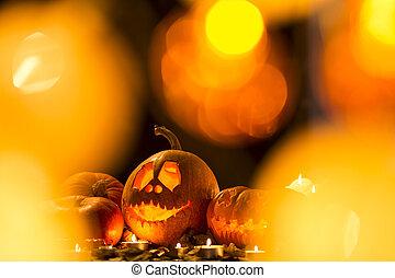 Lights on a Halloween
