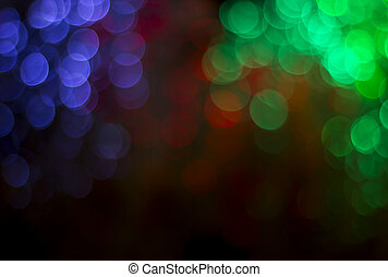 Lights on bokeh as background