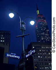 Lights On Broadway - This is a shot of a Broadway street...
