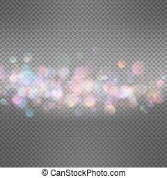 Lights on dark transparent background. EPS 10