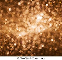 Lights on gold background.