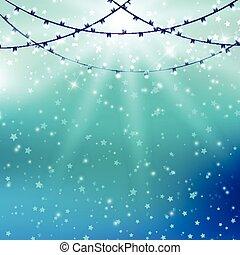 lights on starburst background
