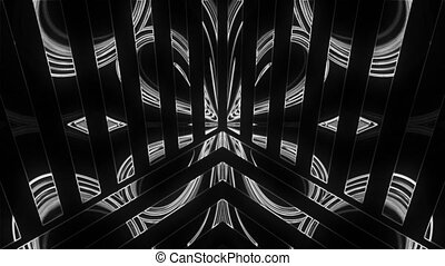 Lights show abstraction with glowing effect, 3d render...