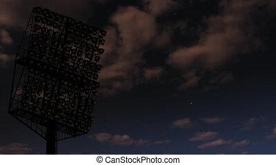 lights., stadion, błyszczący