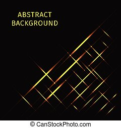 Lights strips on dark background - Abstract lights gold...