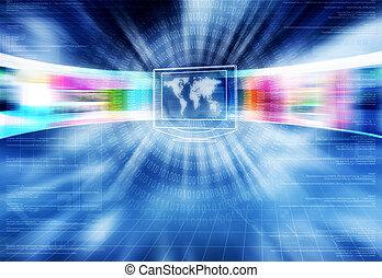 lightspeed, concept, internet
