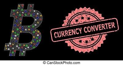 lightspots, 切手, bitcoin, 変換器, 網, 通貨, ゴム