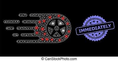 lightspots, rueda, sello, red, rasguñado, inmediatamente, tela, bolide, brillante