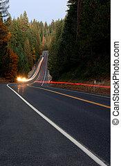 Lightstreaks on Forest Highway
