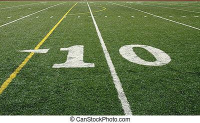 ligne, 10-yard