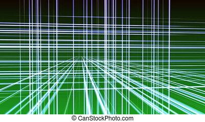ligne, 3d, espace, géométrie, 4k