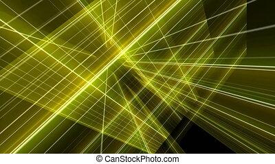 ligne, 3d, jaune