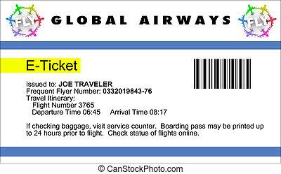 ligne aérienne, e-ticket