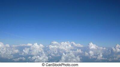 ligne aérienne, nuages, pelucheux, passager, pop-corn, ...