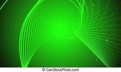 ligne, arrière-plan vert, 3d