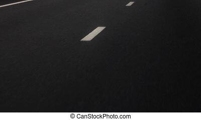 ligne, asphalt., route