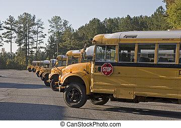 ligne, autobus école