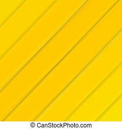 ligne, bannière, jaune