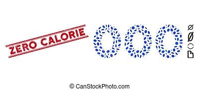 ligne, calorie, texte, collage, zéro, timbre, chiffres, détresse, 000, icône