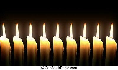 ligne., candlie, loop., hd, cg.