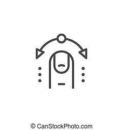 ligne, contrôle, interactif, icône, contour