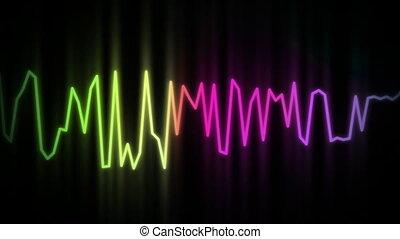 ligne, couleur, audio, vague