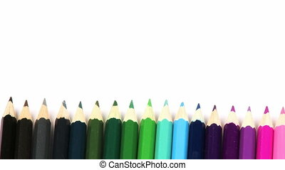 ligne, crayons, couleurs