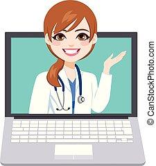 ligne, docteur féminin